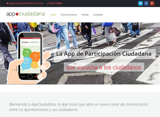 Portfolio. Diseño Web App Ciudadana