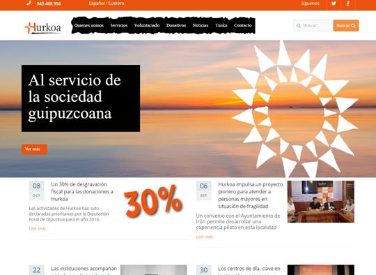 Portfolio. Diseño Web Fundación Hurkoa